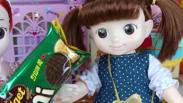 کارتون عروسک بازی دختر کوچولو - مغازه بستنی فروشی