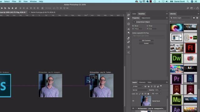 آموزش پیشرفته فتوشاپ - چگونگی اضافه کردن صحیح تصاویر به صفحه