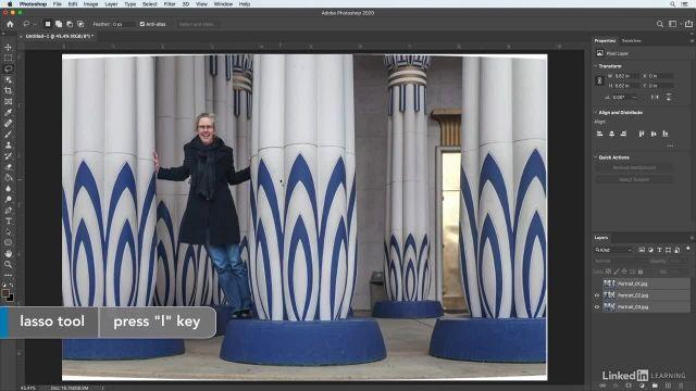 آموزش فتوشاپ برای عکاسان - ترکیب چند عکس با سوژه های متحرک