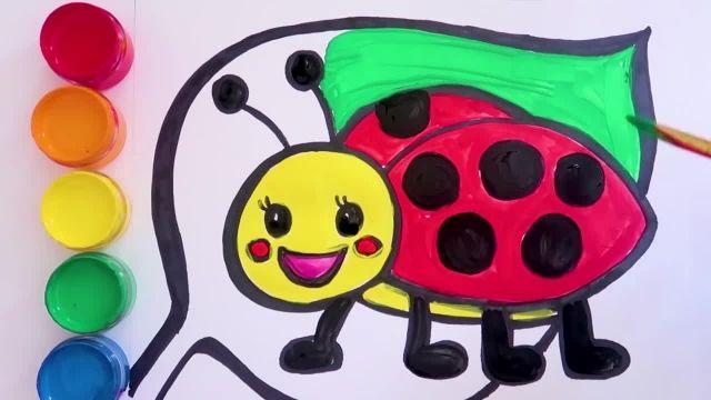 اموزش نقاشی و کشیدن کیف و لوازم ارایشی به کودکان