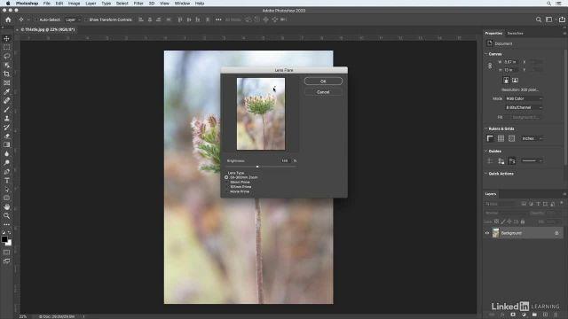 آموزش فتوشاپ برای عکاسان - ایجاد افکت پخش نور