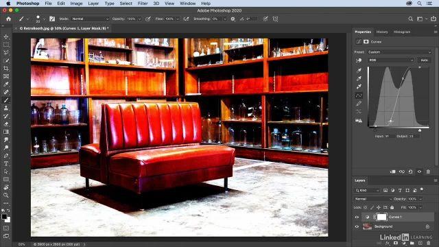 آموزش فتوشاپ - تنظیم کنتراست و اصلاح رنگ توسط پنجره ی curves