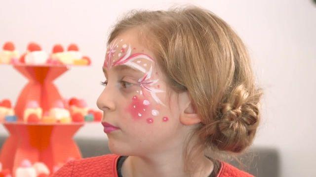 اموزش نقاشی روی صورت کودکان با تم (پرنسس)