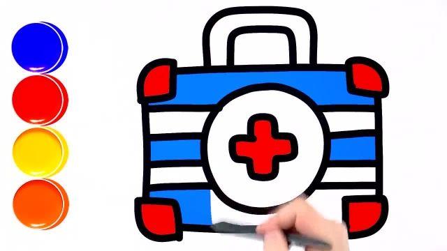 اموزش نقاشی برای کشیدن وسایل دکتر به کودکان