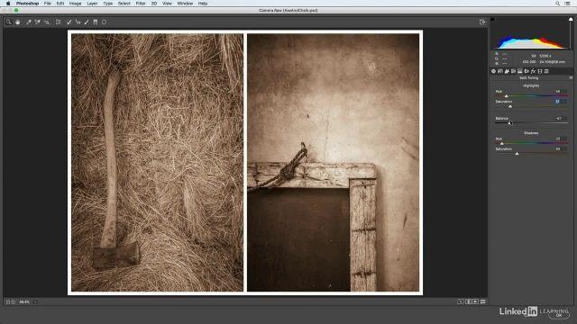 آموزش فتوشاپ برای عکاسان - افکت های خلاقانه پنل split tone