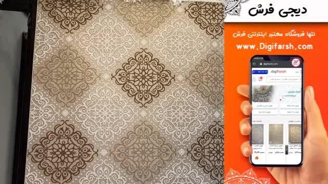 فرش ماشینی لایت کاشان طرح ستا زمینه طوسی کد 224104