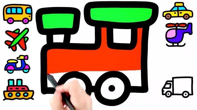 اموزش نقاشی برای کشیدن وسایل نقلیه به کودکان