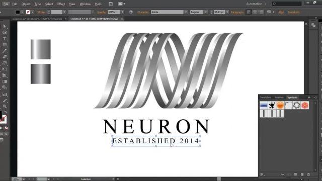 اموزش طراحی لوگو حرفه ای و زیبا در( illustrator cs6)