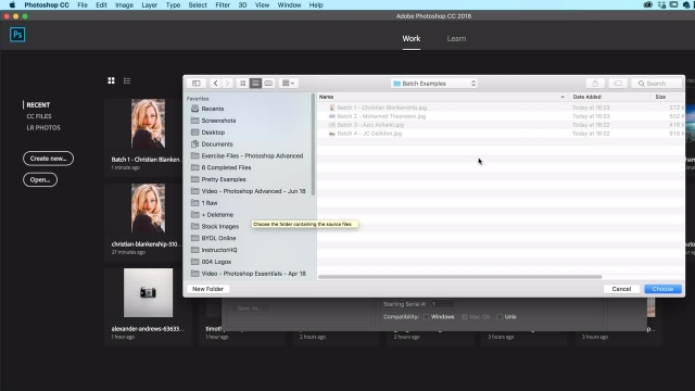 آموزش پیشرفته فتوشاپ - دسته ای و یا تصویر پردازش تصاویر متعدد در یکبار