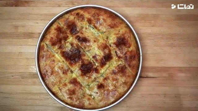 دستورالعمل ساده بورک پنیر با سبزیجات تازه