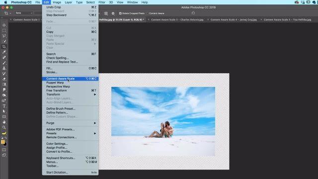 آموزش پیشرفته فتوشاپ -چگونگی تغییر شکل تصاویر بدون تحریف