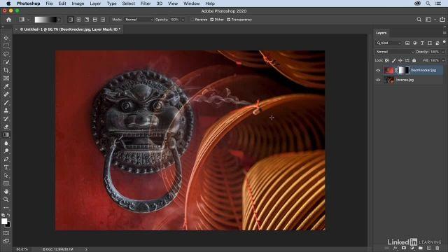 آموزش فتوشاپ - ترکیب عکس ها با استفاده از ابزار تغییر تدریجی یا GRADIENTS