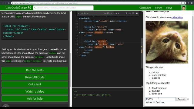 آموزش کامل مبانی html5 -ایجاد مجموعه ای از دکمه های رادیو