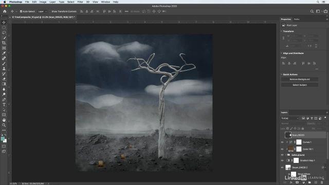 آموزش فتوشاپ برای عکاسان - استفاده از رنگ و بافت برای پیوند دادن تصاویر