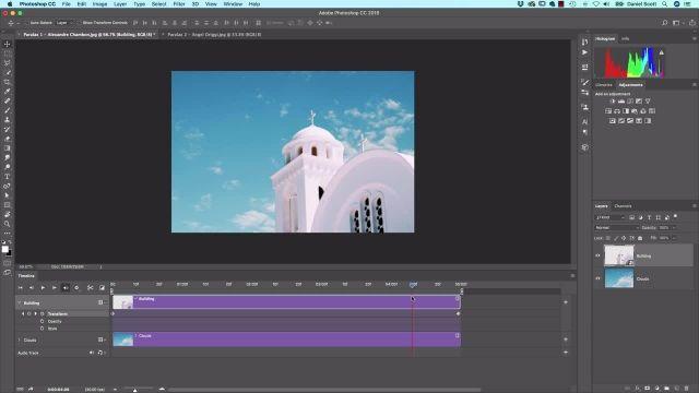 آموزش پیشرفته فتوشاپ - افکت parallax برای جا به جایی عکس ها