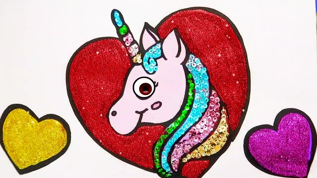 آموزش نقاشی و رنگ امیزی به کودکان ( اسب تک شاخ )