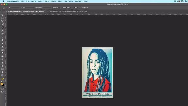 آموزش پیشرفته فتوشاپ - تبدیل تصاویر زاویه دار به حالت مناسب