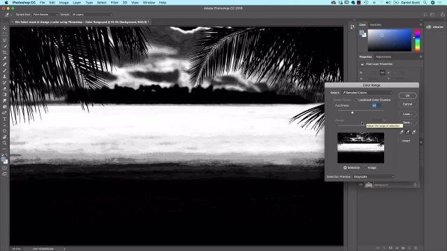 آموزش پیشرفته فتوشاپ - استفاده از فتوشاپ برای انتخاب و رفع چمن و آسمان