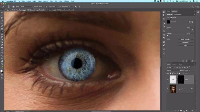 آموزش پیشرفته فتوشاپ  - چشم های ساختگی باور نکردنی