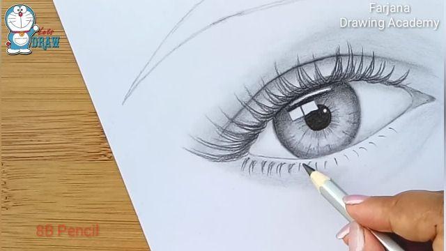 اموزش طراحی با مداد برای مبتدیان ( چشم گریان )