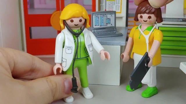 کارتون عروسک بازی دختر کوچولو - ماشا و آقا خرسه در بیمارستان