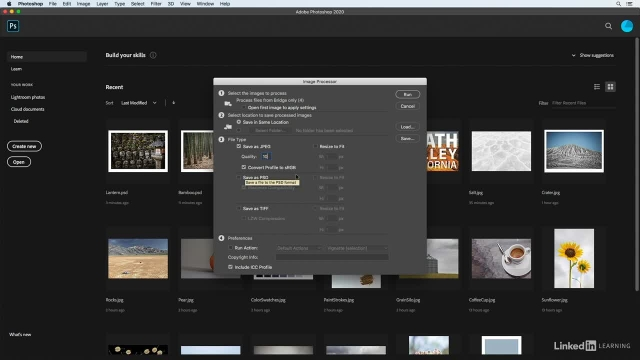 آموزش فتوشاپ برای عکاسان - ذخیره سازی همزمان چند عکس