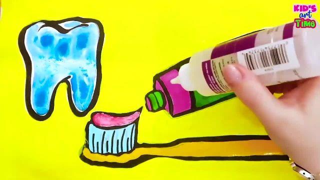 اموزش نقاشی و رنگ امیزی ستاره برای کودکان