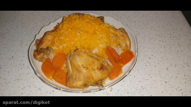 آموزش پختن مرغ زعفرونی تابه ای بسیار خوشمزه و کم چرب