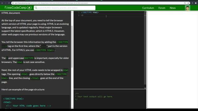 آموزش کامل مبانی html5 - اعلام DOCTYPE یک سند HTML