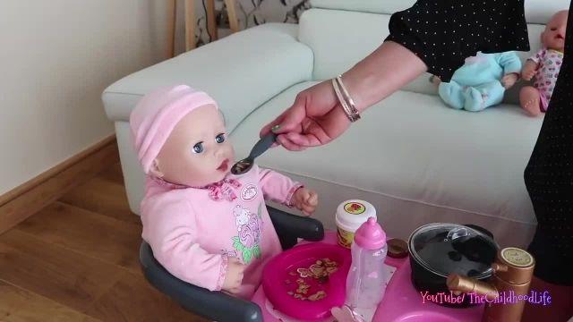 کارتون عروسک بازی دختر کوچولو - مراقبت از نی نی کوچولو ها