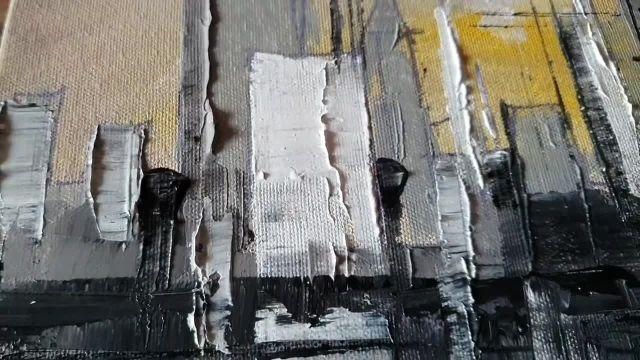 اموزش نقاشی ابستره (نمای شهری)