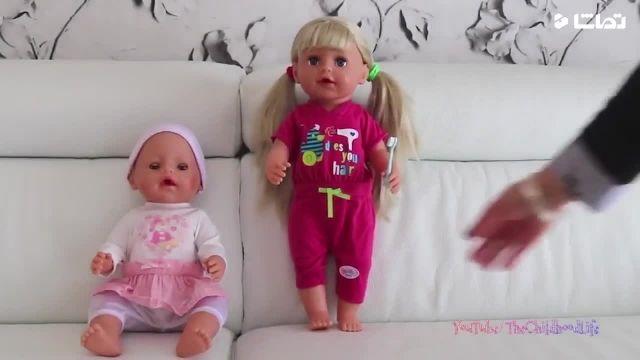 کارتون عروسک بازی دختر کوچولو - حمام بردن نی نی ها