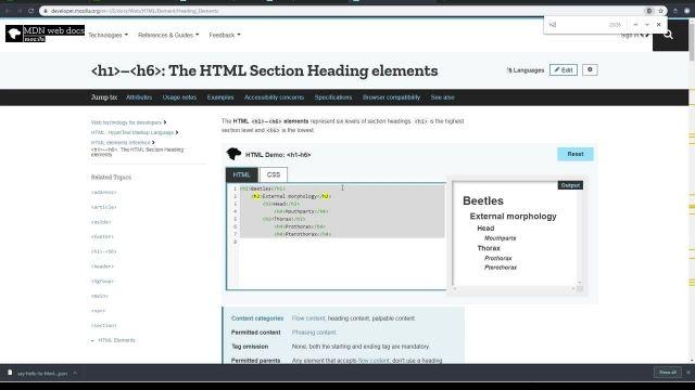آموزش کامل مبانی html5 - عناوین با عنصر H2