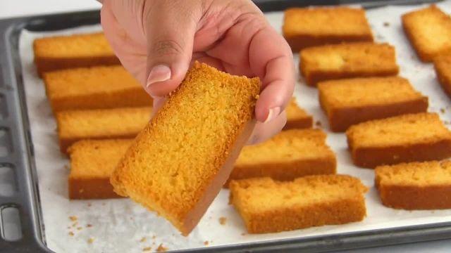 طرز تهیه کیک خشک خانگی یا کیک برشته