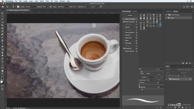 آموزش فتوشاپ برای عکاسان - نقاشی کردن با براش art history