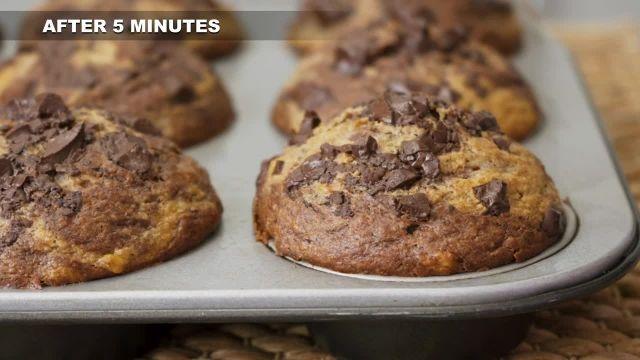 طرز تهیه مافین شکلاتی کره بادام زمینی سالم و خوشمزه
