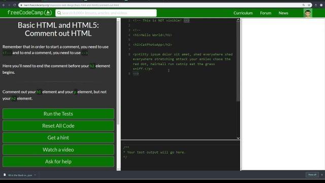 آموزش کامل مبانی html5 - بررسی  COMMENT OUT  HTML