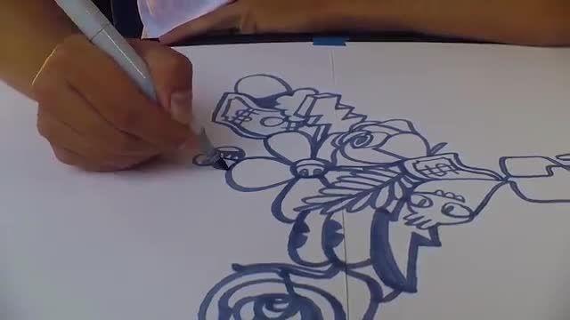 طراحی یک اثر هنری جالب با استفاده از خط پیوسته در چند دقیقه