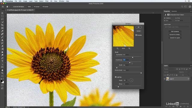 آموزش فتوشاپ برای عکاسان - کار با فیلتر نقاشی رنگ روغن oil paint filter