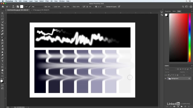 آموزش فتوشاپ برای عکاسان - براش mixer