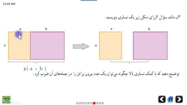 آموزش رایگان ریاضی هفتم فصل سوم - عبارت های جبری