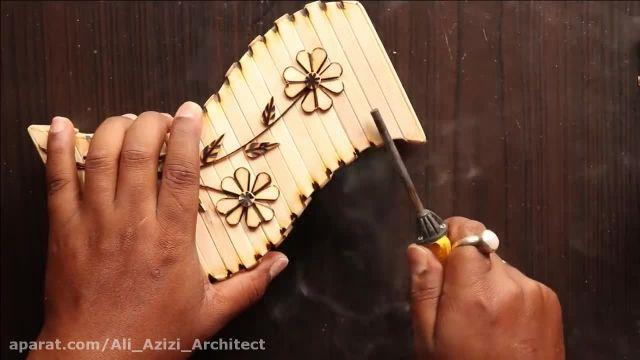 آموزش ساختن وسایل تزیینی چوبی با چوب بستنی