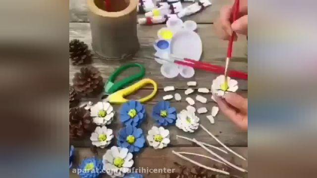 آموزش ایده هایی برای ساخت وسایل تزیینی با میوه کاج