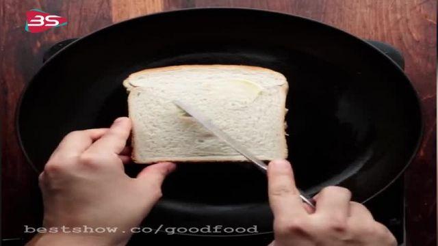 دستور تهیه ساندویج مرغ با نان تست سالم وفوری و خوشمزه