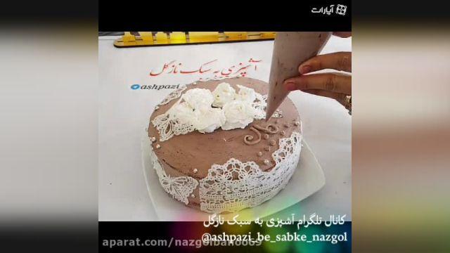 طرزتهیه کیک عروسی با استفاده از دیزاین گیپور خوراکی(خوشگل و خوشمزه)