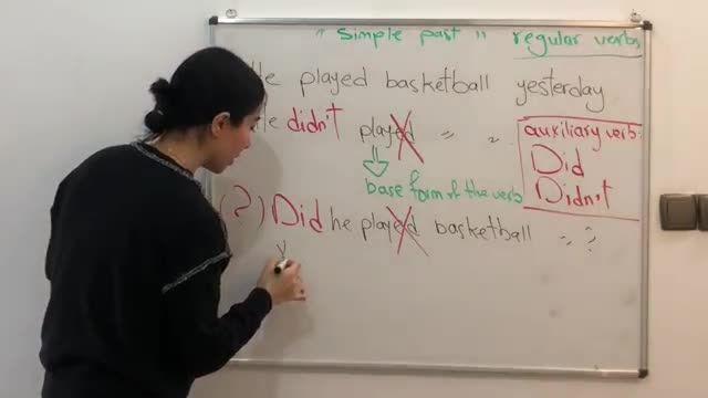 آموزش تصویری گرامر زبان انگلیسی - زمان گذشته ساده (بخش 1)