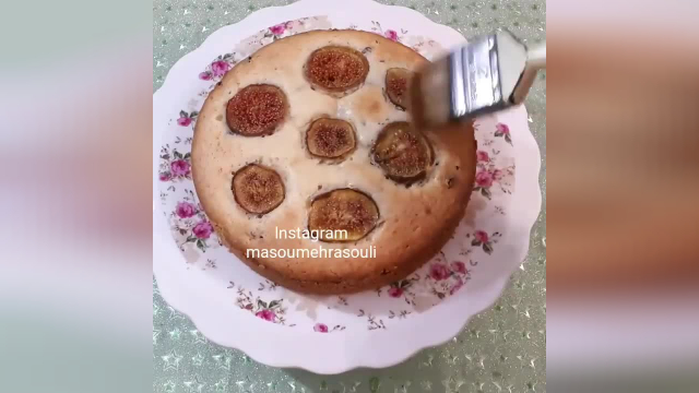 طرز تهیه کامل کیک انجیر بسیار خوشمزه