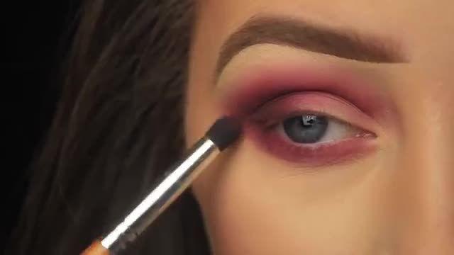 آموزش آرایش و سایه چشم - روز ولنتاین با یه سایه چشم رمانتیک صورتی براق