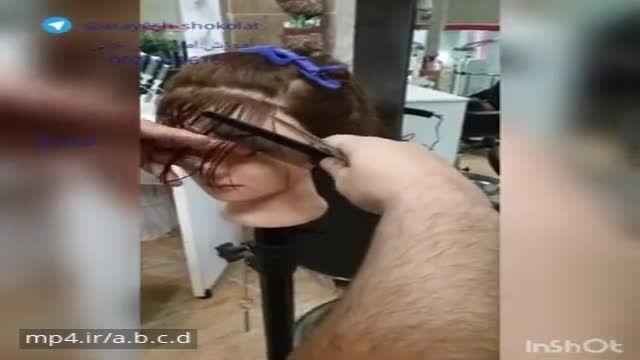 اموزش شینیون مدل موهای چتری