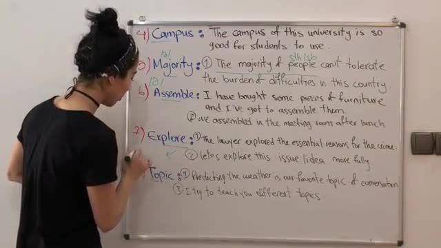 آموزش تصویری ویدیویی کتاب 504 کلمه ضروری انگلیسی درس پنجم